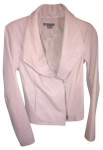 Vince Leather Fall Pale Blush Leather Jacket