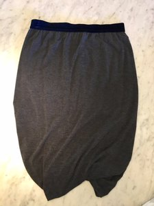 Alexander Wang Grey Velvet Navy Skirt Charcoal