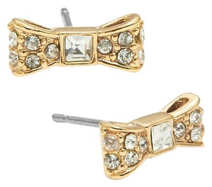 Kate Spade Designer kate spade New York NY Small Bow Clear Crystal Stud Earrings