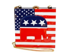 Timmy woods Wooden Collectible Hand Made Patriotic Collection Republican Shoulder Bag
