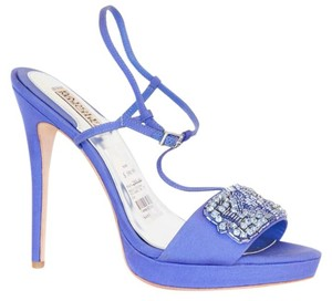 Badgley Mischka Amara Platform Evening 8m Blue Sandals