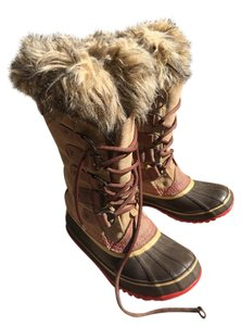 Sorel Waterproof Snow Leather Tan/ Ponk Boots