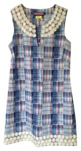 Vineyard Vines short dress Blue and white Madras on Tradesy