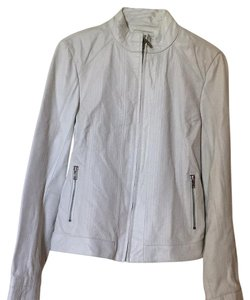 Wilsons Leather white Leather Jacket