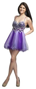 Dave & Johnny Sweetheart Sequins Two Tone Dress