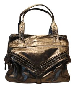 Botkier Leather Metallic Satchel in Bronze