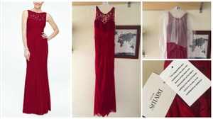 David's Bridal Apple Sleeveless Long Mesh Bridesmaid Dress With Corded Lace Style: F15749 Size: 6/8 Dress