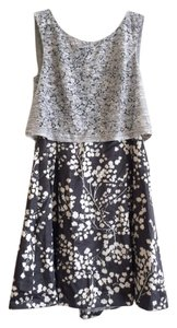 Anthropologie Silk Lace Cropped Floral Dress