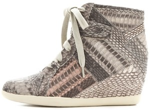 Rebecca Taylor Sneakers Hightop Snakeskin Wedges