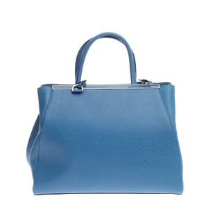 Fendi Leather Tote in Sky Blue