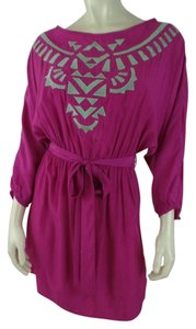 Jealous Tomato short dress Magenta Tribal Pullover Top on Tradesy