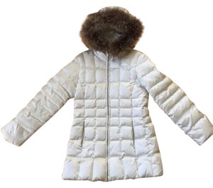 Andrew Marc New York Goose Down Jacket Raccoon Fur Trim Coat