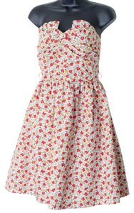 Moon Collection short dress Multi-Colored Size Small Strapless Floral Empire Waist on Tradesy