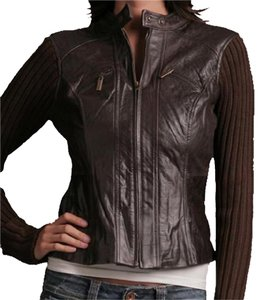 Arden B. brown Leather Jacket