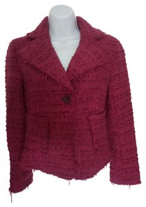 Zara Tweed Jacket Woman Tweed Pink Jacket fuchsia Blazer