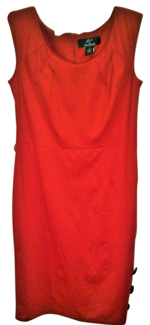 Item - Red Knee Length Work/Office Dress Size 8 (M)