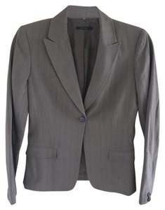 Elie Tahari Pockets Stitching Buttons Lined Taupe Blazer