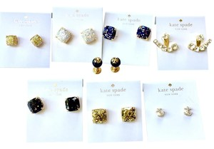 Kate Spade / Tory Burch Lot of 8 Stud Earrings Kate Spade & Tory Burch $375+ Retail