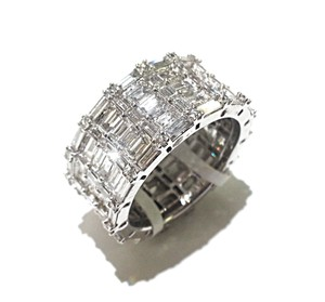 DeWitt's 5.39 CtTw Diamond Ring In 18K White Gold