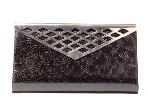 Timmy woods Leather BLACK Clutch