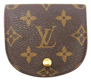Louis Vuitton Porte-Monnaie Gousset Monogram Coin Change Purse Wallet w/ Box