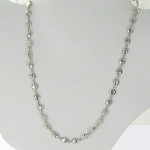 Ippolita Ippolita Glamazon Flat Hammered Necklace Beads 17 Sterling Silver