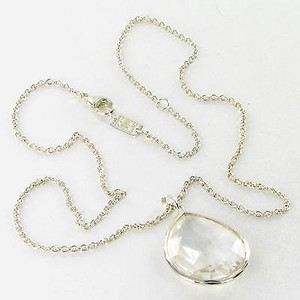 Ippolita Ippolita Necklace Rock Candy Lg Teardrop Clear Quartz Sterling Silver