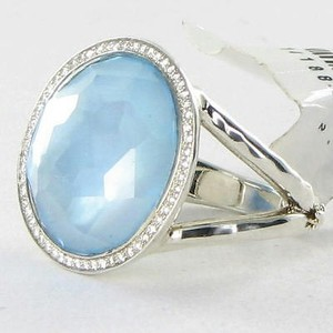 Ippolita Ippolita Ring Stella Lollipop 0.23cts Diamonds Blue Topaz Mop 925