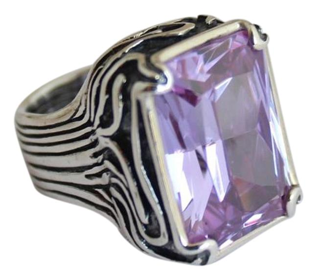 Item - Silver and Lavender Statement R001 Ring