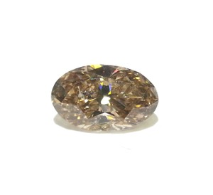 DeWitt's 2.58 Carat Unusual Cognac Color Oval Shape Diamond