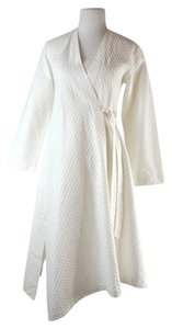 Donna Karan Donna Karan Quilted White Cotton Robe Size P