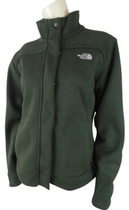 The North Face Fleece Stretch Zip Snap Olive Green Jacket