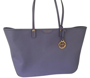 Henri Bendel Large Leather Tote in Purple