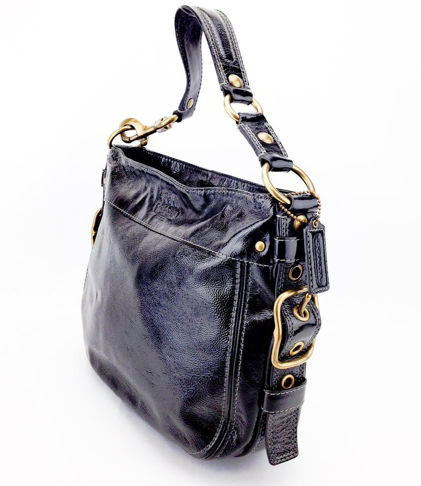 Coach Zoe Hobo Patent Leather 12735 Shoulder Bag 12345678910