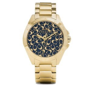 Coach Coach Tristen 14502348 Gold Tone Stainless Signature Dial Watch