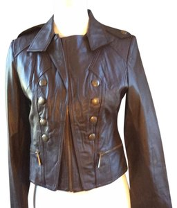 Moda International Brown Leather Jacket
