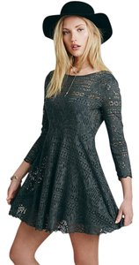 Free People short dress green/grey on Tradesy