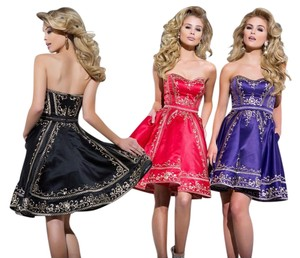 Tony Bowls Pockets Homecoming Strapless Cocktail Dress