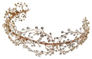 Elegance by Carbonneau Rose Gold Crystal Vine Headband Hair Accessory