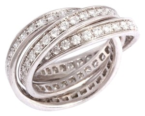 Cartier White Gold & Diamond Trinity Ring