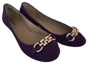 Bamboo Chain Embellished Stylish Purple Flats