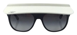 Chanel Chanel Runway Edition Matte Black with Matte White Visor Sunglasses