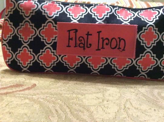 Other Flat Iron or Curlers Case Black and Pink Design