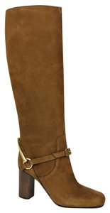 Gucci Women's Suede Knee Brown Boots
