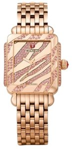 Michele NEW Michele Deco 16 Pink Topaz Rose Gold Limited Ladies Watch