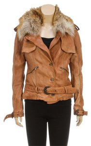 Giorgio Armani Tan Leather Jacket
