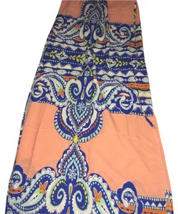 Orange blue and white Maxi Dress by Windsor