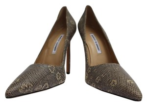 Manolo Blahnik Lizard Pump Classic Pumps
