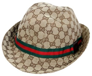 Gucci Gucci Signature GG Monogram Logo Bucket Unisex Canvas Hat