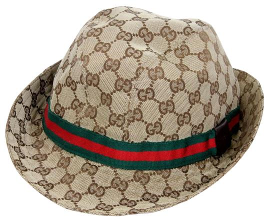 gucci signature gg monogram logo bucket unisex canvas hat. Black Bedroom Furniture Sets. Home Design Ideas